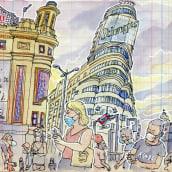 My project in Urban Sketching: Express Your World in a New Perspective course. Un proyecto de Bocetado, Pintura a la acuarela, Ilustración arquitectónica y Sketchbook de Lapin - 23.08.2020