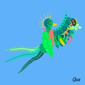 Mi Proyecto del curso: Ilustración vectorial con estilo. Un progetto di Illustrazione digitale e Illustrazione vettoriale di Silvana Caravantes - 24.08.2020