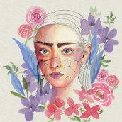 Mi Proyecto del curso: Retrato ilustrado en acuarela. Un progetto di Pittura, Pittura ad acquerello e Illustrazione di ritratto di Rita Carboni - 24.08.2020