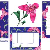 Mi Proyecto del curso: Ilustración botánica con acuarela. A Illustration, Aquarellmalerei und Botanische Illustration project by Nadia Ham - 24.08.2020