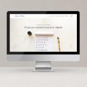 Lourdes Peralta Caligrafía. Um projeto de Br, ing e Identidade e Web design de Mónica Durán · Visual Bloom - 01.07.2020