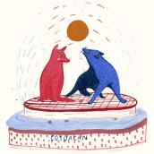 Coyoacán . Un proyecto de Diseño, Ilustración y Pintura acrílica de Mariel Romero - 28.08.2020