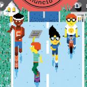 Un enigmático anuncio. Un proyecto de Ilustración y Pixel art de KIKE IBÁÑEZ - 31.08.2020