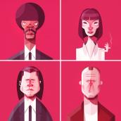 Pulp Fiction. Un proyecto de Ilustración de Ricardo Polo López - 02.09.2020