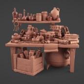 Mi Proyecto del curso: Modelado cartoon de bodegones con Maya. A 3-D-Animation project by Albert Valls Punsich - 02.09.2020