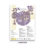 Campaña oficial 25N Ayuntamiento de Burjassot . Un proyecto de Diseño gráfico, Diseño de carteles e Ilustración digital de Eva Cortés Jiménez - 02.09.2020