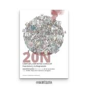 Cartel macro-manifestación aragonesa 20N contra la represión 2019. Un proyecto de Ilustración, Diseño gráfico y Diseño de carteles de Eva Cortés Jiménez - 20.11.2019