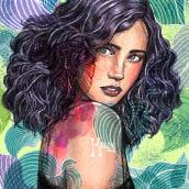 Mi Proyecto del curso: Retrato ilustrado con Procreate. Un proyecto de Bellas Artes, Bocetado y Dibujo artístico de Elisabeth Kalon - 03.09.2020