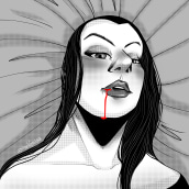 Tehuana Vampiro. A Illustration, Digital illustration, Portrait illustration, and Digital Drawing project by Venisa Del Aguila - 09.11.2020