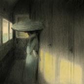 Viajes en trenes de primera.. Un projet de Illustration, Dessin au cra, on et Illustration jeunesse de Daniel Torrent Riba - 11.09.2020
