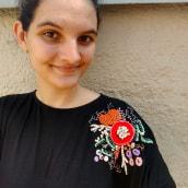 Meu projeto do curso: Técnicas avançadas de bordado: pontos e composições com volume. Un proyecto de Moda y Bordado de Carolina Carettin - 13.09.2020