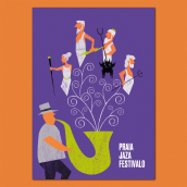 Praia Jaza Festival. Un progetto di Illustrazione di Miquel Caballero Cruells - 15.09.2020