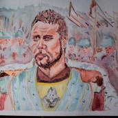 Gladiador. A Watercolor Painting project by Zaida Olvera - 09.18.2020