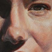 Details. Fine brush marks with oil paint. . Um projeto de Pintura e Pintura a óleo de Alan Coulson - 20.09.2020