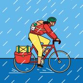 LONG DISTANCE CYCLING. Un proyecto de Ilustración, Diseño editorial e Ilustración vectorial de Enric Adell - 01.08.2020