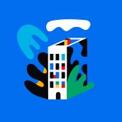 Happy Cities. Un projet de Design  et Illustration de Tor Ewen - 01.10.2020