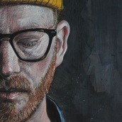 Self Portrait in oil. . Um projeto de Pintura a óleo de Alan Coulson - 02.10.2020