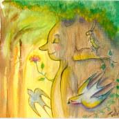 Mi Proyecto del curso: Introducción a la ilustración infantil El nacimiento de Pinocho. Un proyecto de Ilustración de Teresa Hernández - 05.10.2020