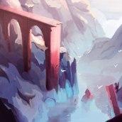 broken bridge. A Concept Art, and Digital illustration project by lisa guisquier - 10.06.2020