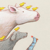 El pollo Chiras. Un projet de Illustration, Illustration jeunesse et Illustration éditoriale de Rafael Yockteng - 07.10.2020