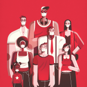 Ponte la mascarilla / Put on the mask. Un proyecto de Ilustración de Ricardo Polo López - 02.10.2020