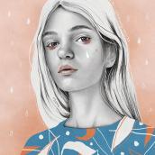 Mi Proyecto del curso: Retrato con lápiz, técnicas de color y Photoshop. A Porträtillustration und Digitale Illustration project by Trini hoolala - 12.10.2020