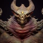 Demonragon (Unreal 4). Un projet de 3D, Modélisation 3D , et Conception de personnages 3D de Juan Novelletto - 12.10.2020