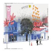 LOULOU ON THE LEFT. 2020 AUG. Un proyecto de Bocetado, Dibujo e Ilustración arquitectónica de Alan Innes - 29.08.2020