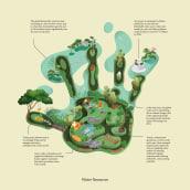 Greener footprint. Un projet de Infographie et Illustration botanique de Jing Zhang - 13.10.2020
