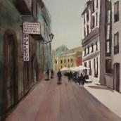 Mi Proyecto del curso: Paisajes urbanos en acuarela. Un proyecto de Pintura a la acuarela de Mercedes Campo Andreu - 11.10.2020