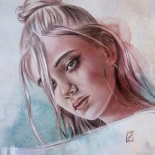Never Enough. Um projeto de Ilustração, Ilustração digital, Pintura em aquarela, Ilustração de retrato, Desenho de Retrato, Desenho digital e Pintura digital de Jackie Noëlle - 13.10.2020