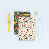 Cadernos estampados em parceria com Miolito. A Pattern Design, and Watercolor Painting project by Luiza Normey - 10.14.2020