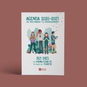 Agenda escolar para la Diputacion de Barcelona. Un proyecto de Diseño editorial e Ilustración digital de vireta - 01.03.2020