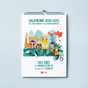 Calendario escolar de pared Diputación de Barcelona. Un proyecto de Ilustración, Diseño editorial, Diseño gráfico, Ilustración digital e Illustración editorial de vireta - 01.06.2020