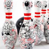 Bowling!. Um projeto de Ilustração e Pintura Acrílica de Akimaro - 17.06.2015