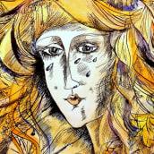 Mi Proyecto del curso: Animalario botánico: acuarela, tinta y grafito. Un proyecto de Bellas Artes, Bocetado, Dibujo y Concept Art de Oksana Tsvetkova - 19.10.2020