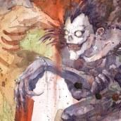 Shinigami (2020). Um projeto de Ilustração, Artes plásticas e Pintura em aquarela de Geoff Pascual - 22.09.2020