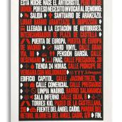 El día de la Bestia, de Jabi Medina. A Screen-printing, T, pograph, and design project by Amazink - 10.23.2020