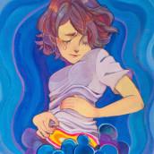 Sick. Um projeto de Ilustração, Artes plásticas, Pintura Acrílica e Desenho digital de Akimaro - 27.04.2016