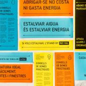 Matatón de ahorro energético. A Design, Graphic Design, Signage Design, Icon design, Poster Design, and Communication project by Núria Vila Punzano - 10.29.2017
