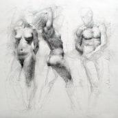 Movements. A Bildende Künste, Bleistiftzeichnung, Zeichnung, Realistische Zeichnung, Artistische Zeichnung und Anatomische Zeichnung project by Shane Wolf - 03.11.2020