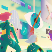Kaspersky Secure Future - Cybersecurity diversity gap. A Illustration, Art Direction, and Digital illustration project by Andrea Gendusa - 11.24.2020