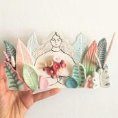 Ceramic Illustration. Um projeto de Design, Ilustração e Cerâmica de Pepa Espinoza - 04.11.2020