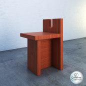 SketchUp e V-Ray - Cadeira lateral por Lina Bo Bardi, 1985. Sesc Pompéia. . Um projeto de Design, 3D, Design de móveis, Arquitetura de interiores, Modelagem 3D e 3D Design de Guilherme Coblinski Tavares - 06.11.2020