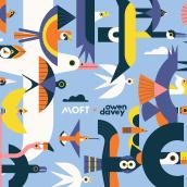 MOFT Laptop Stand. Um projeto de Ilustração, Ilustração vetorial e Ilustração digital de Owen Davey - 10.02.2020