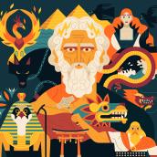 Mythopedia.com. Um projeto de Ilustração, Ilustração vetorial e Ilustração digital de Owen Davey - 11.03.2020