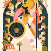 The Parthenon Frieze. Um projeto de Ilustração, Ilustração vetorial, Ilustração digital e Ilustração editorial de Owen Davey - 09.09.2020