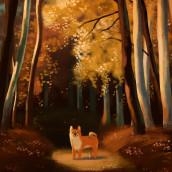 The Golden Forest . Um projeto de Ilustração e Ilustração digital de Daniela López Marín - 03.01.2019