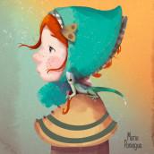 Gretel. Un projet de Illustration numérique, Illustration de portrait et Illustration jeunesse de Maria Paniagua - 07.11.2020