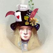 Alicia. Un projet de Illustration, Illustration numérique, Illustration de portrait et Illustration jeunesse de Maria Paniagua - 07.11.2020